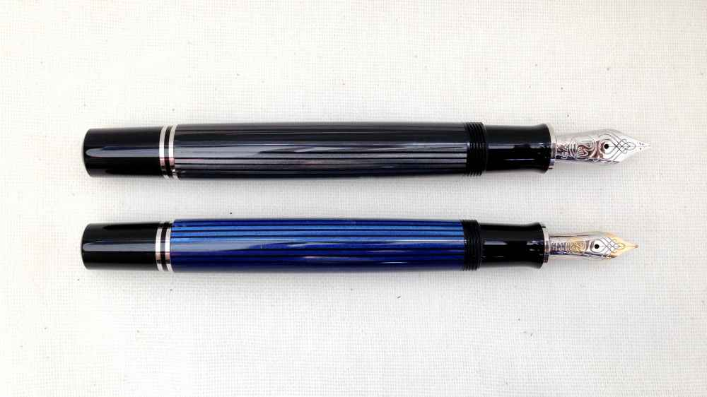 Pelikan M805 Stresmann and M605 Black-Blue