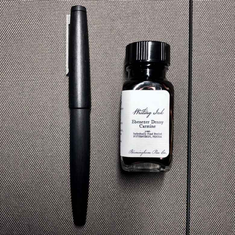 Makrolon Lamy 2000 (0.6mm CI) filled with Birmingham George Westinghouse Alternator Crimson
