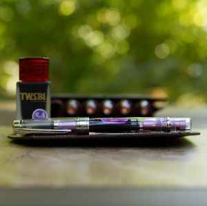 Purple TWSBI Diamond 580AL IF filled with TWSBI 1791 Royal Purple